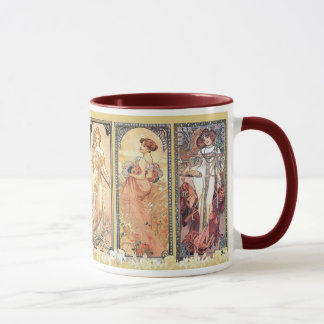Mucha ~ Panel of Three Mug