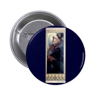 Mucha Polar Star Art Deco 6 Cm Round Badge