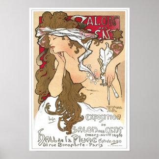 Mucha Poster: Salon des Cent Poster