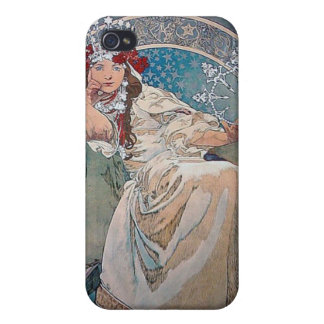 Mucha Princess art deco Cover For iPhone 4