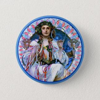 Mucha - Slavia - Secession 6 Cm Round Badge