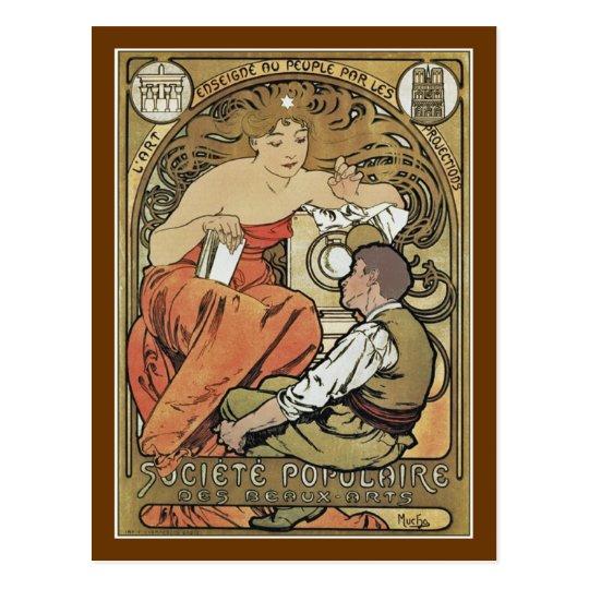 Mucha - Societe Populaire des Beaux-Arts Postcard