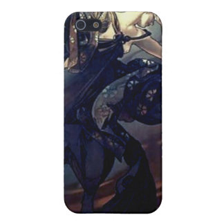 Mucha Star Woman with black dress Cases For iPhone 5