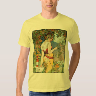 Mucha T-Shirt:  Cognac by Alphonse Mucha Tshirt