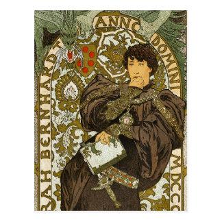 Mucha - Theater - Lorenzaccio - Art Nouveau Postcard