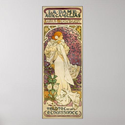 Mucha Vintage Poster: La Dame aux Camélias
