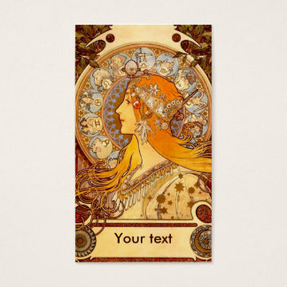 Mucha Zodiac Business Card