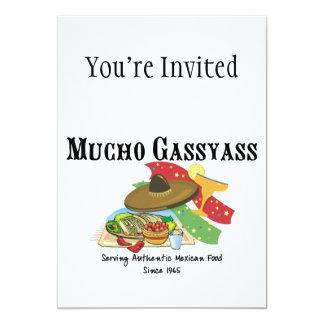 "Mucho Gassyass Mexican Food 5"" X 7"" Invitation Card"