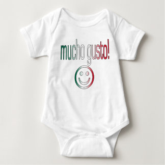 Mucho Gusto! Mexico Flag Colors Baby Bodysuit