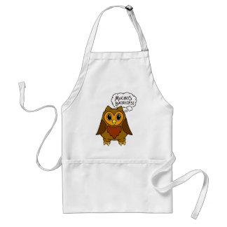 Muchos Backflips! Alfred the Owl Friend Apron