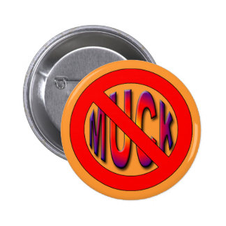 muck (poker) 6 cm round badge
