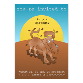 Mucky pup party invitation