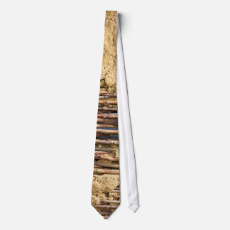 Mud and wattle wall tie