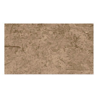 Mud. Brown Muddy Ground. Business Card