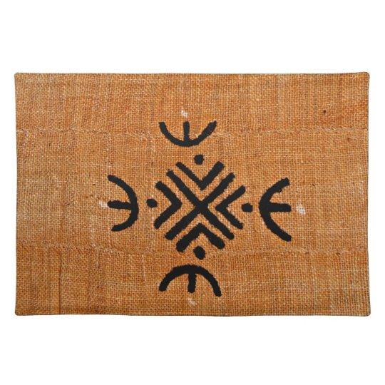Mud cloth orange place mats