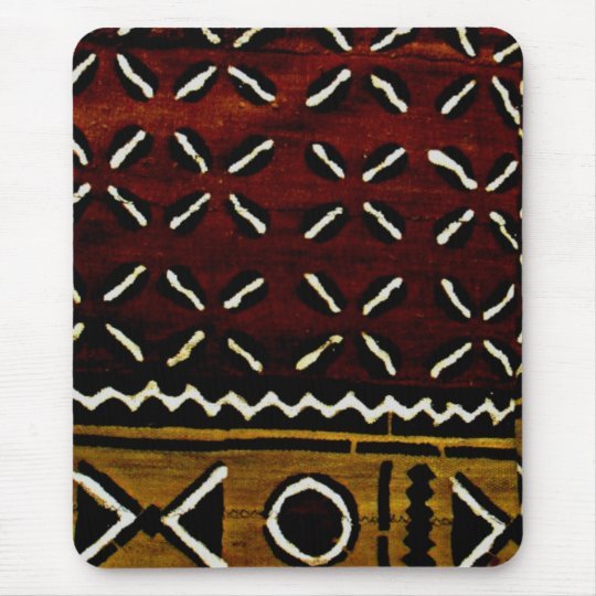 mud cloth print mouse pad