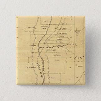 Mud Creek oil lands 15 Cm Square Badge