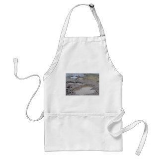 Mud holes, mud volcano apron