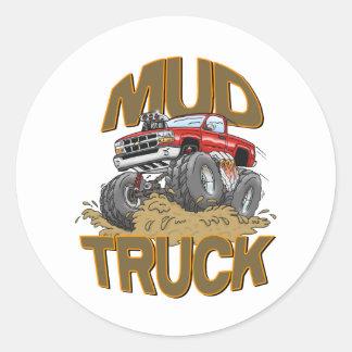 Mud Truck Chevy Classic Round Sticker