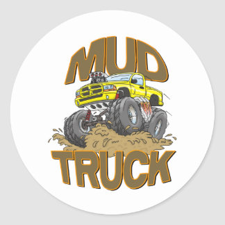 Mud Truck Dodge Classic Round Sticker