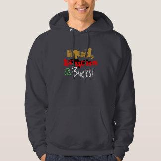 """""""Mud, Trucks and Bucks"""" Upper Peninsula Dark Grey Hooded Sweatshirt"""