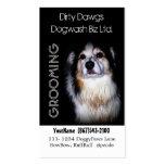 Muddy Dog Groomer or  Dog Wash Business Cards