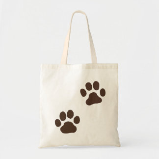 Muddy Paw Prints Budget Tote Bag