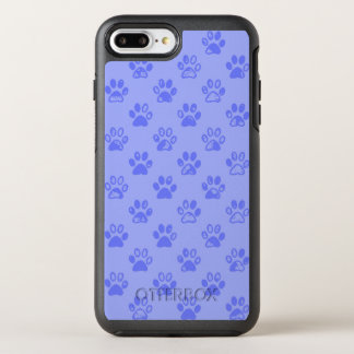 Muddy paw prints in Blue OtterBox Symmetry iPhone 8 Plus/7 Plus Case