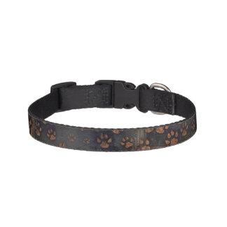 Muddy Pawprints Dog Collar - Small