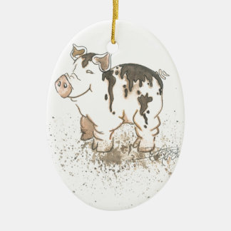 Muddy Pig Christmas Ornament
