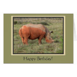 Muddy Rhino Happy Birthday Card