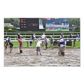 Muddy Track at Saratoga Photo Print