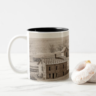 Mudhouse Mansion Lost History Two-Tone Coffee Mug