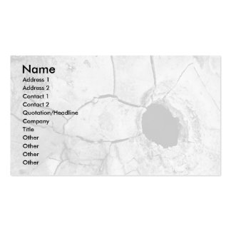 Mudpot or hole pack of standard business cards