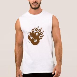 Mudshake Bear Paw brown Sleeveless T T Shirt