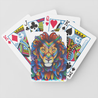 Mufasa's new hair do bicycle playing cards