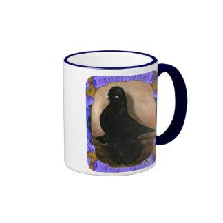Muffed Tumbler Pigeon Framed Ringer Mug