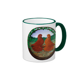 Muffed Tumbler Pigeons2 Ringer Mug