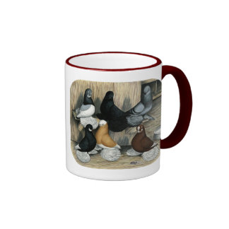 Muffed Tumbler Pigeons Ringer Mug