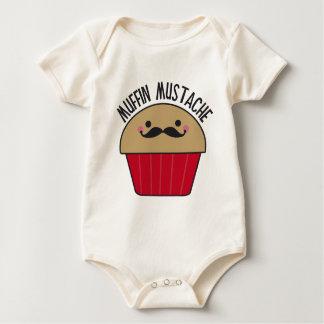 Muffin Mustache Baby Bodysuits
