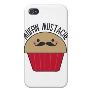 Muffin Mustache Covers For iPhone 4