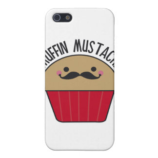 Muffin Mustache iPhone 5 Cases