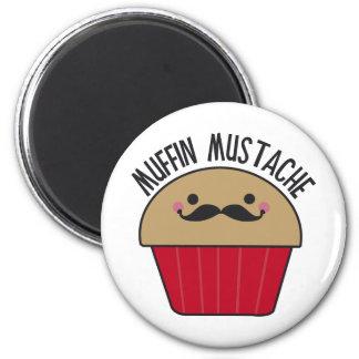 Muffin Mustache 6 Cm Round Magnet