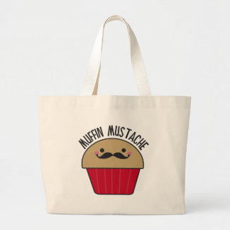 Muffin Mustache Jumbo Tote Bag