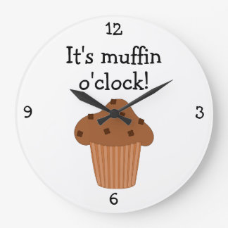 Muffin O'Clock fun food graphic Wallclocks