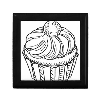 Muffin Vintage Retro Woodcut Style Gift Box