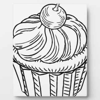 Muffin Vintage Retro Woodcut Style Plaque