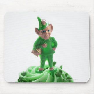Muffin with green cream for St Patrick s Day Mouse Pad