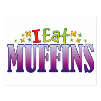 Muffins I Eat Postcard