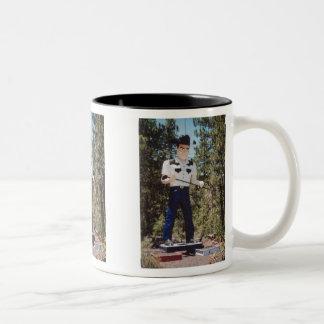Muffler Man Two-Tone Mug